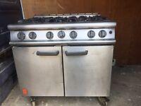 Falcon 6 burner gas cooker