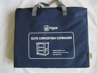 BRAND NEW Hi Gear Elite Concertina 4 Shelf Cupboard with Carry Case