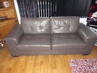 3 + 2 + 2 piece faux leather grey suite