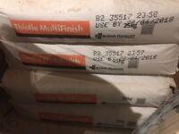 THISTLE MULTI FINISH PLASTER 5 NEW UNOPENED BAGS