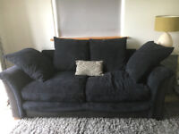 Large Black Chenille Sofa Bed