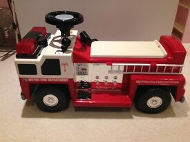 Rechargeable Ride-on Toy fire engine