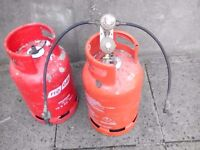 Empty Propane bottles and automatic changover / regulator