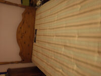 Rare - Four poster solid wooden bed with Sealy posturpeadic double bed mattress, all excellent cond