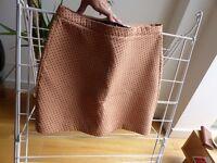 Orange, blue spots Zara skirt - Size S