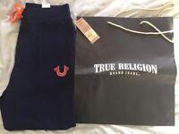 Brand New Hard Knocks True Religion Joggers With Original Tags attached and original bag