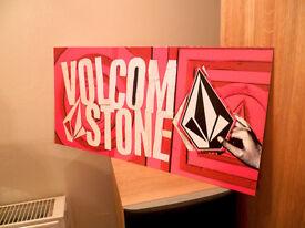 VOLCOM surf snowboard 2006 BIGGER stone plastic dealer display sign NEW