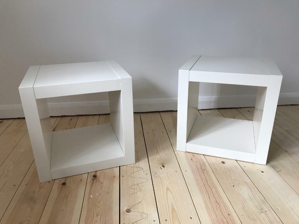 Ikea Kallax Cubes Bedside Coffee Table X2 In Guildford