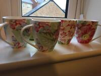 4 x Cath Kidston mugs - excellent condition