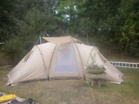 skandika 6 man tent used once huge main area & 3 bedrooms
