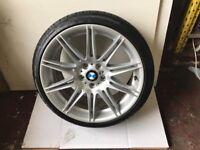 Genuine 19 BMW 3 Series Gloss Silver 225M MV4 Front/Rear Alloy Wheel Genuine No Cracks/Welds