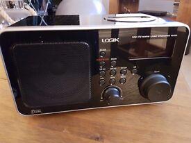 Logik DAB digital radio alarm clock docking station ipod mp3