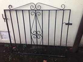 Metal garden gate and hinges