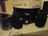 Black steriliser and bottle warmer