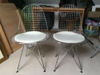 Charles Eames Style Wire Chair X2