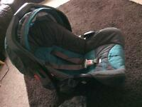 Graco car seat and raincover