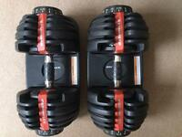 Bowflex Dumbbells set 52.5 lbs - !Adjustable!
