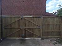 Gates double gates timber gates