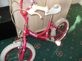 TWO 14'' Bike girls Bike use it but good working order