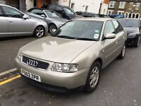 AUDI A3 1.8 5 DOOR AUTOMATIC 2002 LONG MOT LOW MILEAGE HPI CLEAR DRIVES WELL