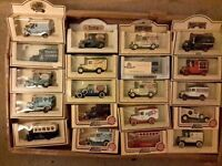 20 die cast model cars lledo all boxed in good condition £2each or £ 30 the lot