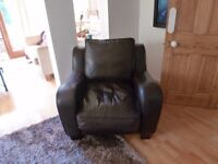 Great quality sumptuous leather armchair