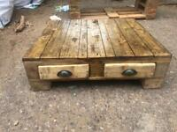 Reclaimed wood coffee table. 78 cm x 70 cm