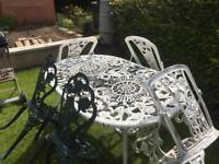 Garden Furniture , Cast Aluminium , rose pattern