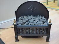 Electric 2 bar, realistic coal effect fire.