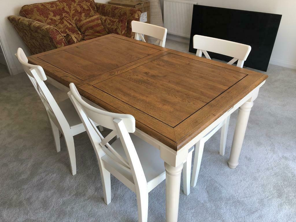 Oak Furniture Land Extending Dining Table And Chairs In Edinburgh