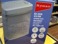 RYMAN MS-500M CROSS CUT SHREDDER, BOXED