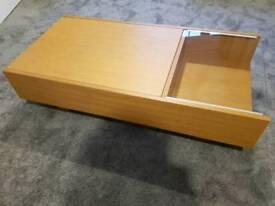 Habitat oak veneer coffee table with hidden storage