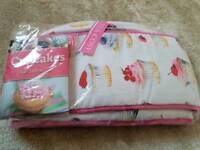 Cupcake book, oven gloves and tea cosy