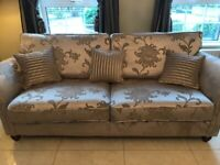 Four seater sofa and chair