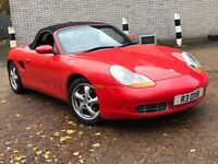 PORSCHE BOXSTER 2.5 PETROL MANUAL CONVERTIBLE CABRIOLET RED MOT EXCELLENT DRIVE PRIVATE PLATE NO 911