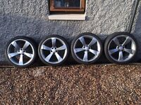 """19"""" Rotor Alloy Wheels with Tyres (AUDI)"""