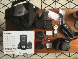 Canon EOS 600D / Rebel T3I / EOS KISS X5 with three lenses and accessories