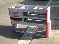 Van shelving metal unit, with drawers, cost over £500 when new, bargain £130 ovno