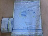 Boys Cot Duvet and Bumper