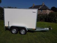 Twin axle box van trailer twin axle with brakes - Full EU Only £2700 plus vat