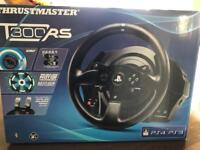 Thrustmaster T300 RS wheel and pedals