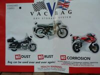 Vac Bag for motorcycle Jumbo size 3.65m x 2.4m (12ft x 8ft)