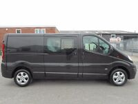 FINANCE ME!! NO VAT!! stunning vauxhall vivaro crew cab sport with only 91k from new and FSH...