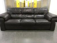 Genuine solid leather sofa •free delivery •