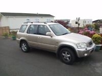 REDUCED TO £795 FOR QUICK SALE 2000 Honda CRV. New cambelt and service. Tow bar. 100% reliable