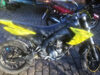 DERBI SENDA SM EVO 50cc geared motorbike, GOOD CONDITION AND NEWLY TESTED