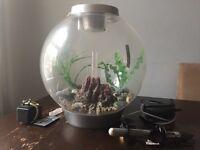 30l Biorb fish tank with heater, lights and air pump
