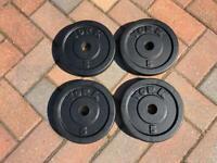 York 5kg x 4 Cast Iron weight plates
