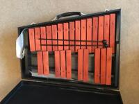 Xylophone with case