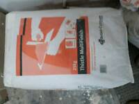 2 bags of plaster